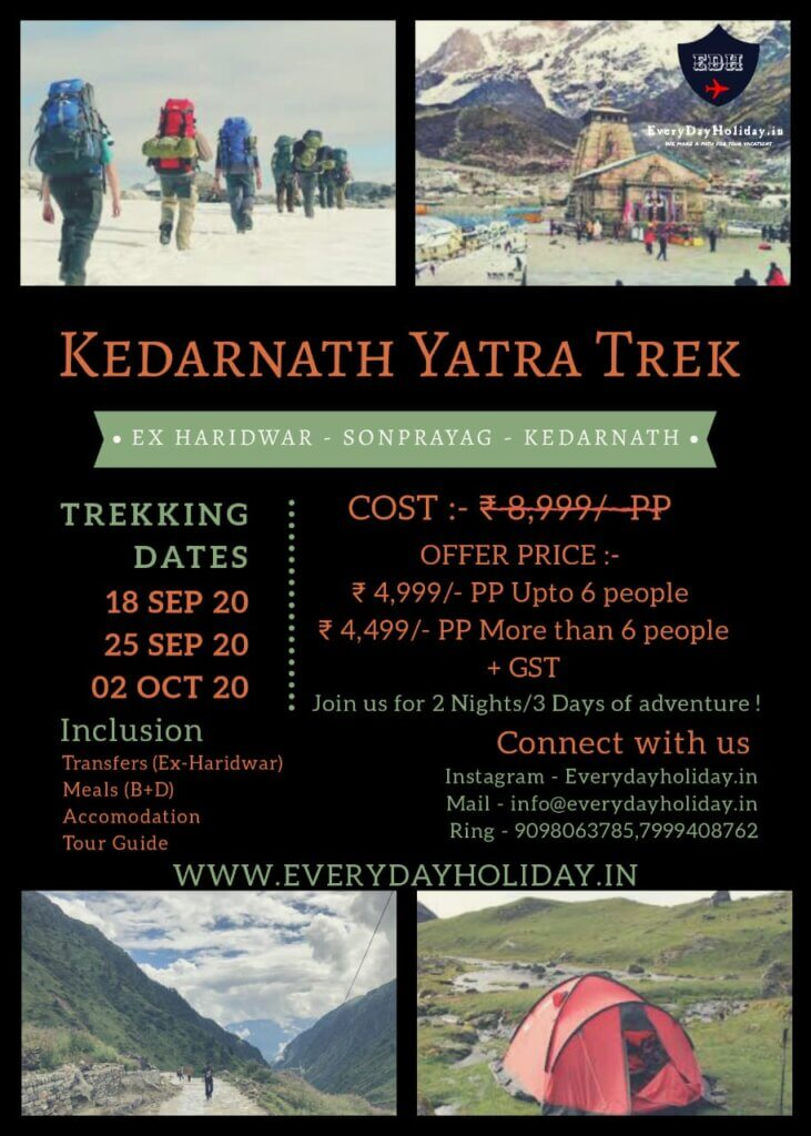 Kedarnath Cheap Travel Package Kedarnath trip India